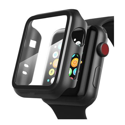 Lito Tempered Glass Screen Protector With Case 2 in 1 Set For Apple Watch 44mm