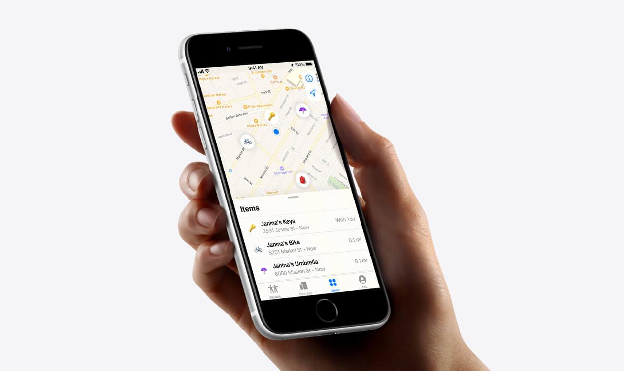 Apple AirTag map