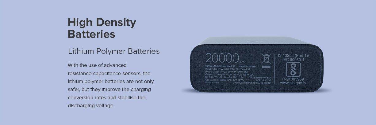 MI 3i 20000 mah powerbank density