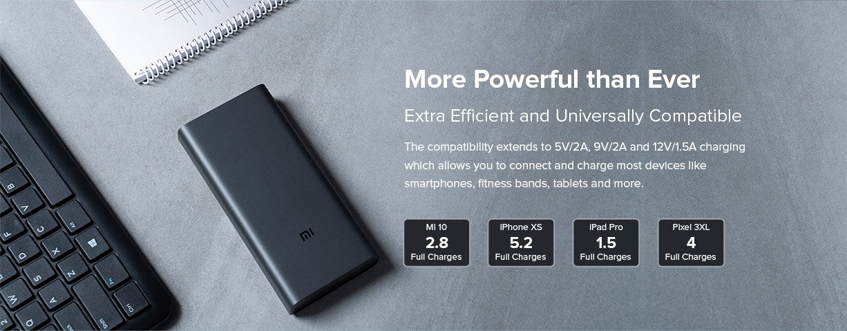 MI 3i 20000 mah powerbank powerful