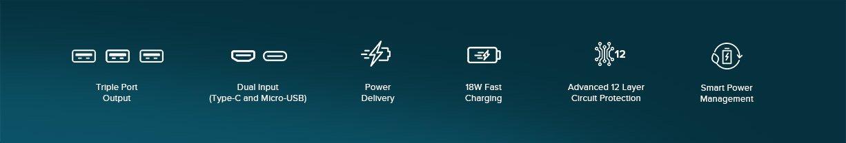 MI 3i 20000 mah powerbank specifications