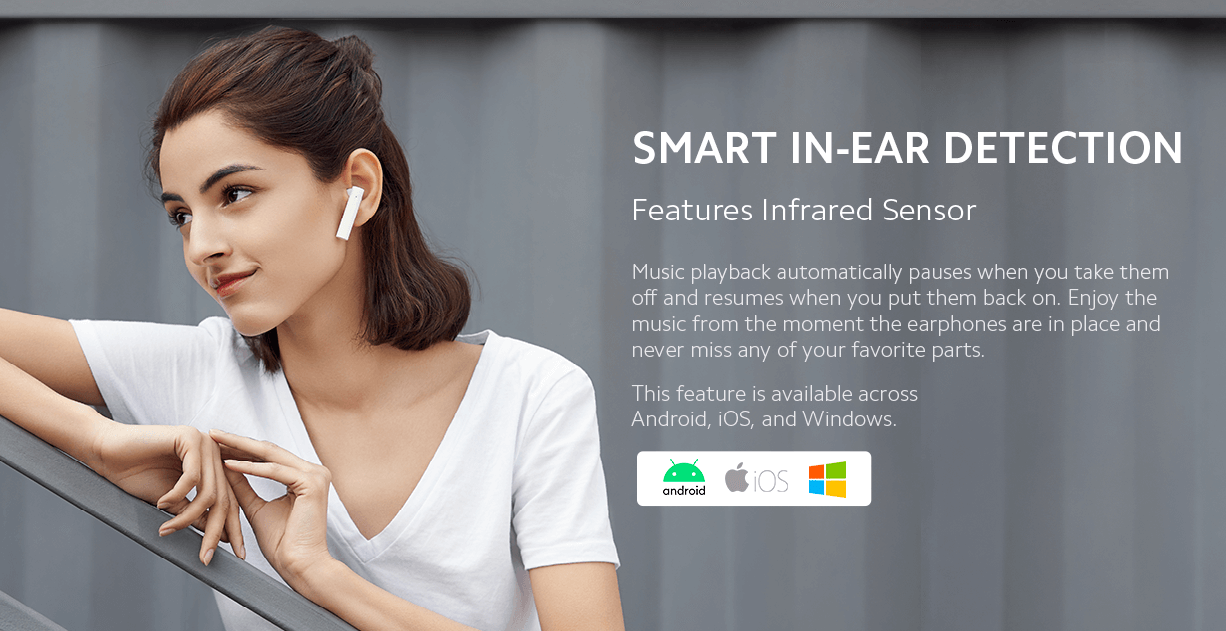 Mi True Wireless Earphones 2C Ear detection