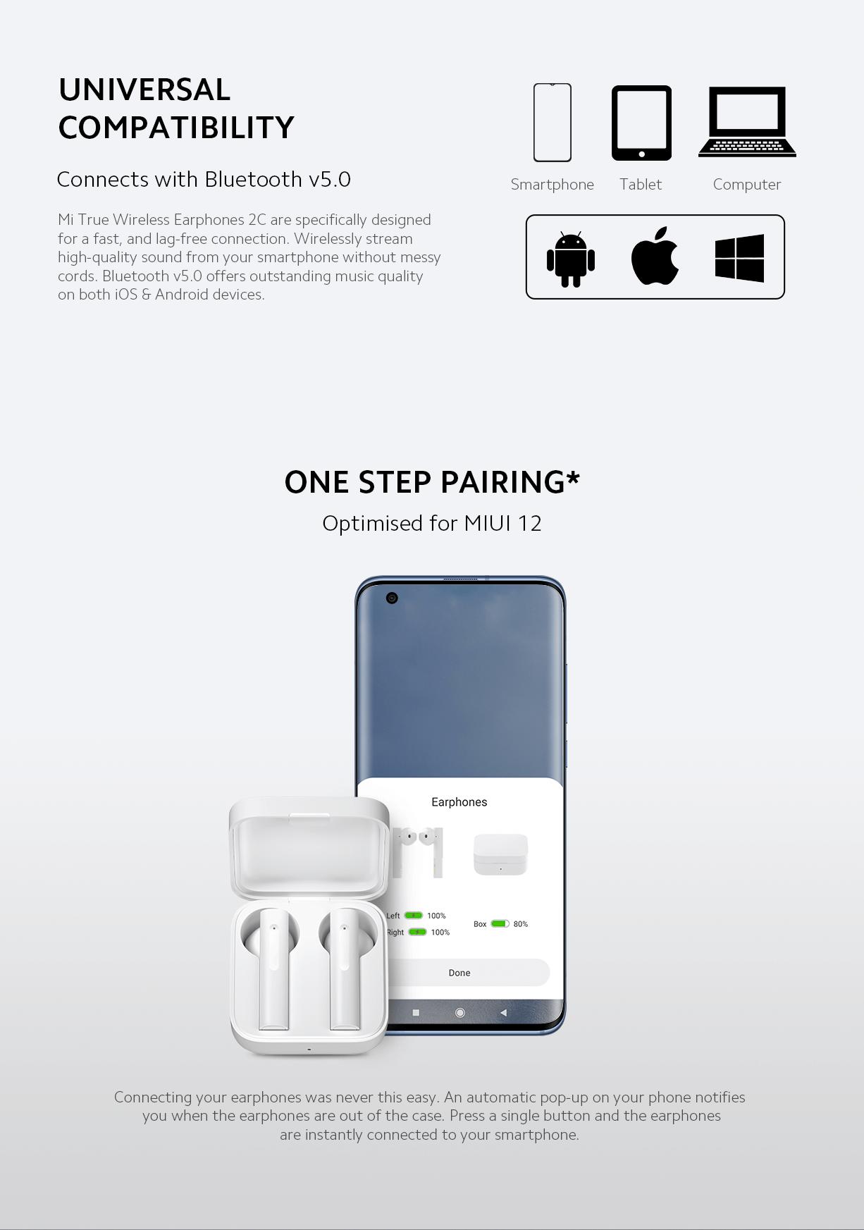 Mi True Wireless Earphones 2C connect