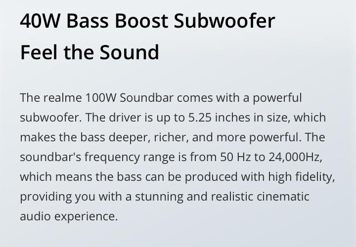 realme soundbar 40w