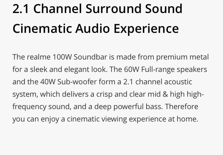 realme soundbar audio