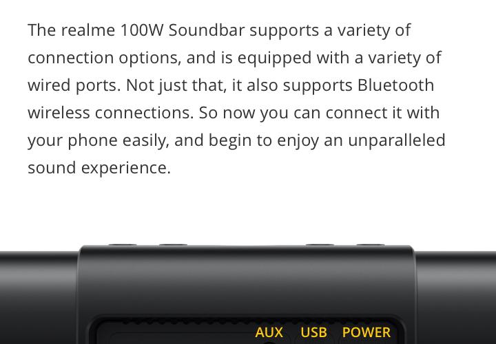 realme soundbar specs