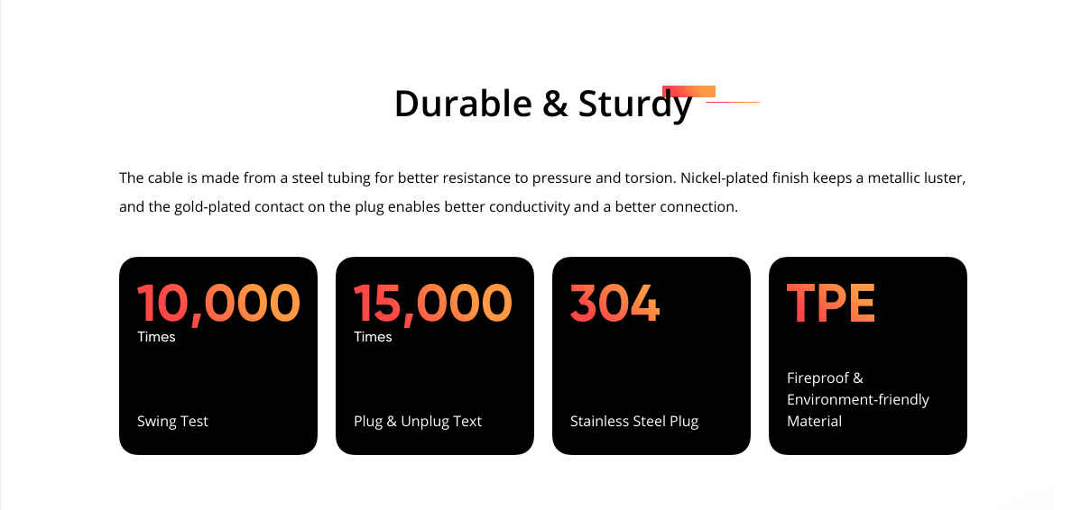 realme Type C SuperDart Cable durable