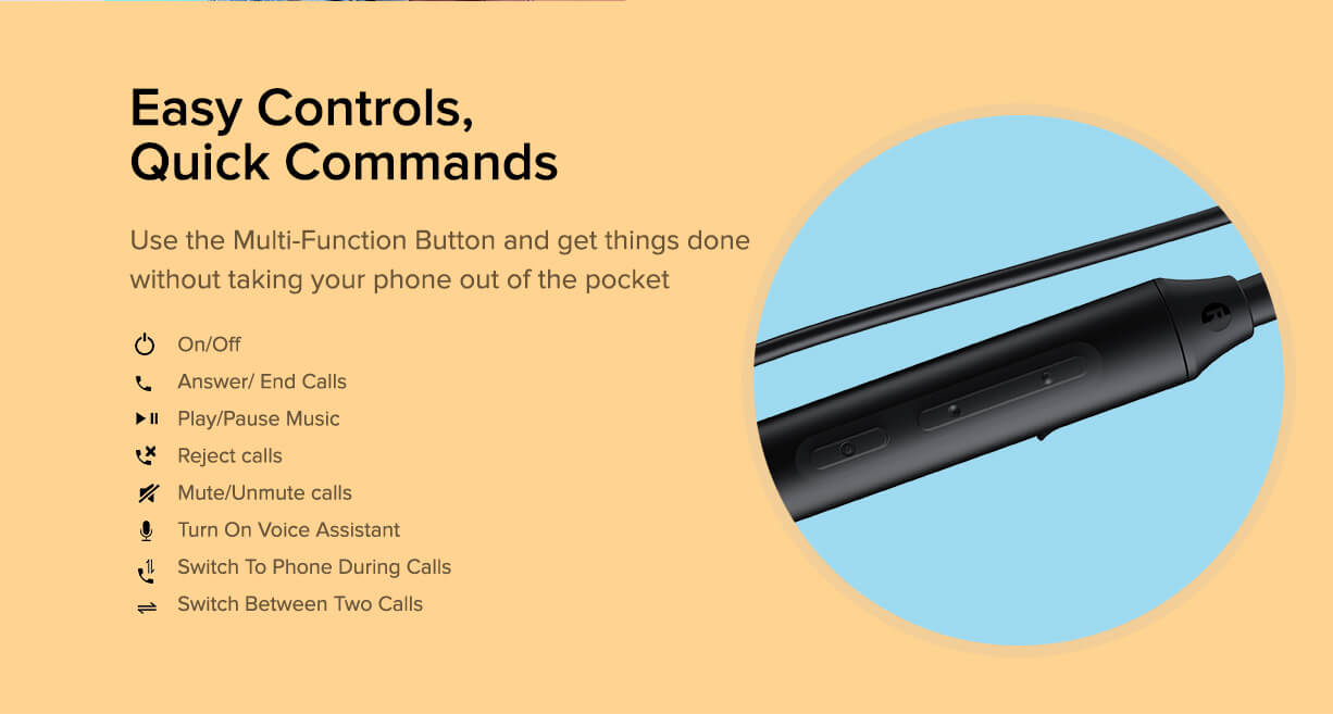 Redmi SonicBass Bluetooth Headset design