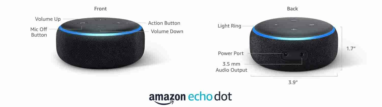 Amazon Echo Dot-3rdGen technical details