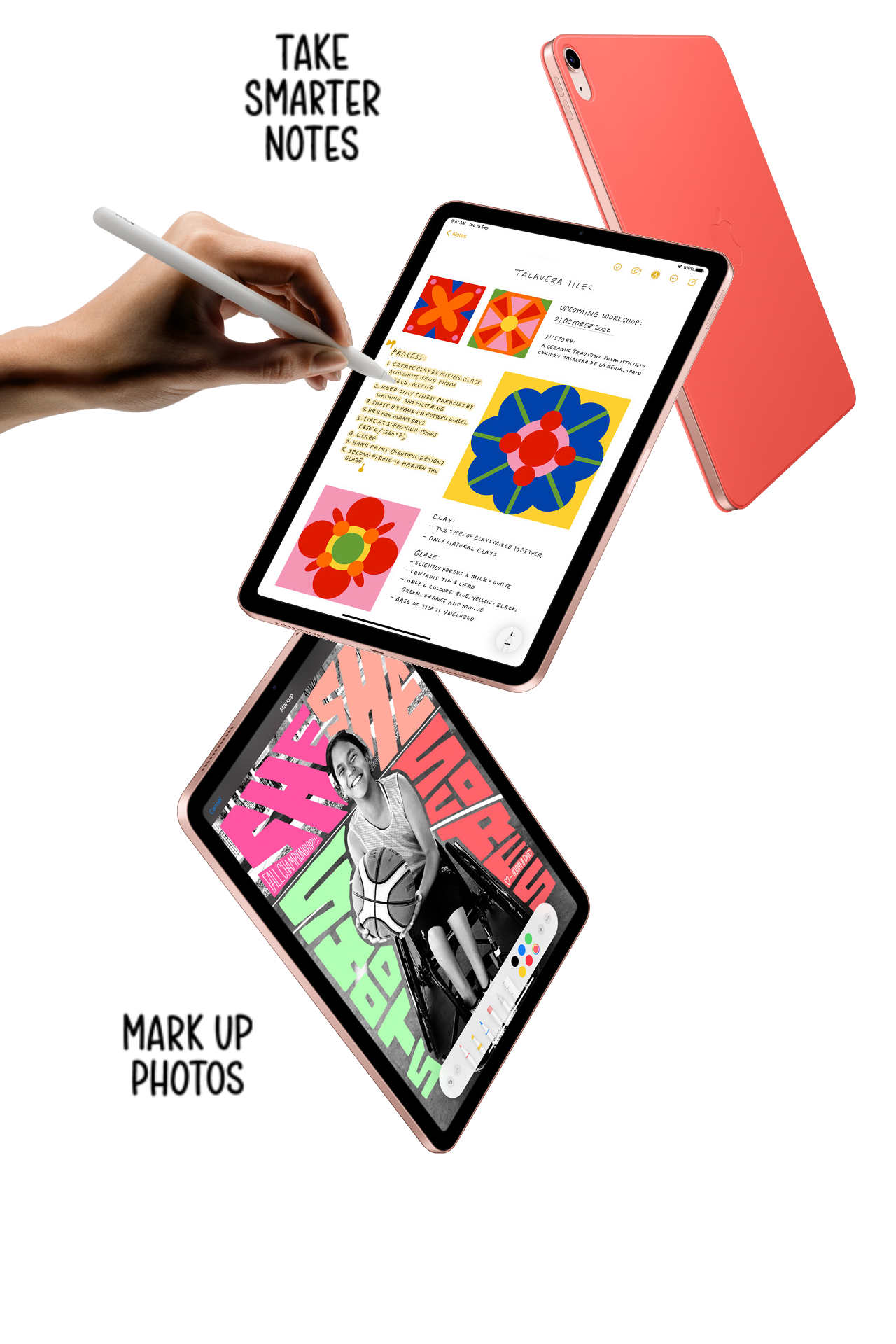 Apple IPad Air 10.9 Inch features Smart notes