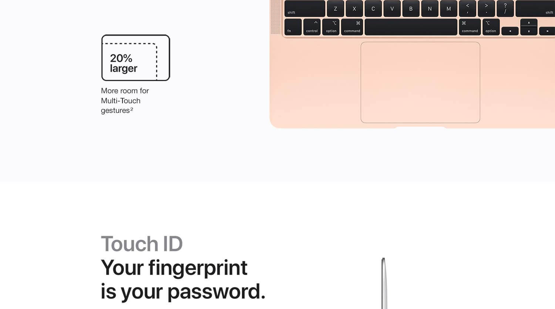 Apple MacBook Air features