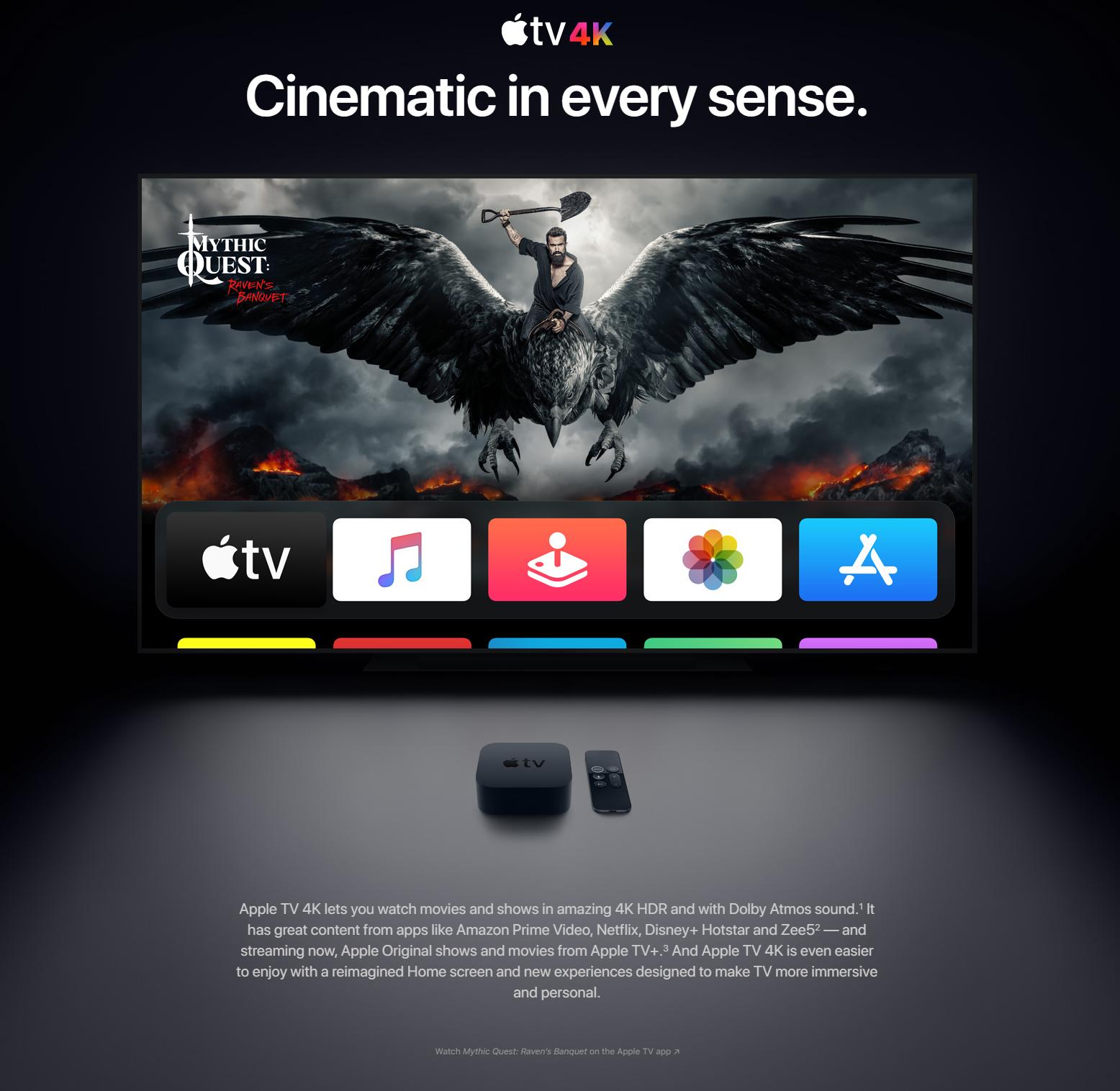 apple tv 4k price