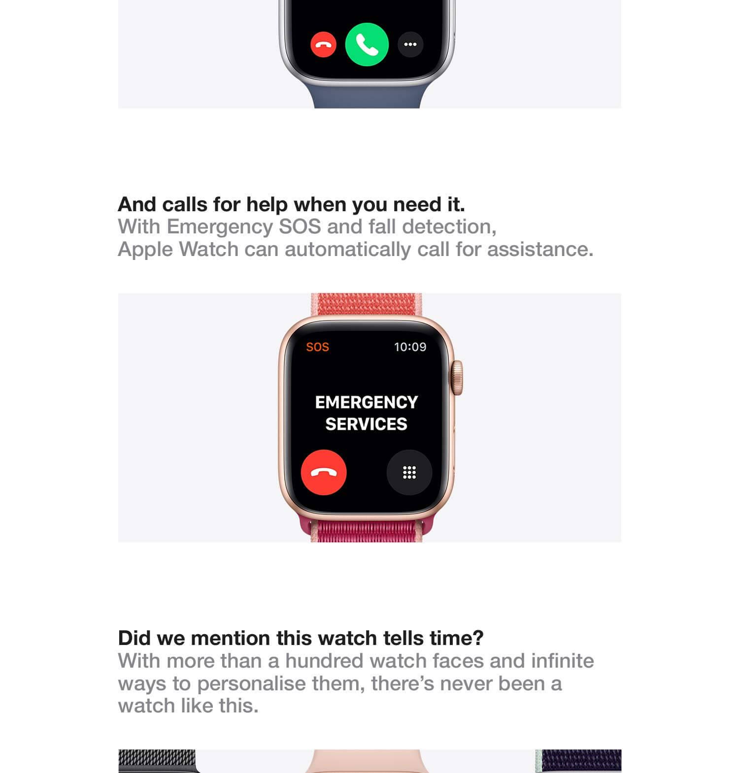 Apple watch series 5 colours