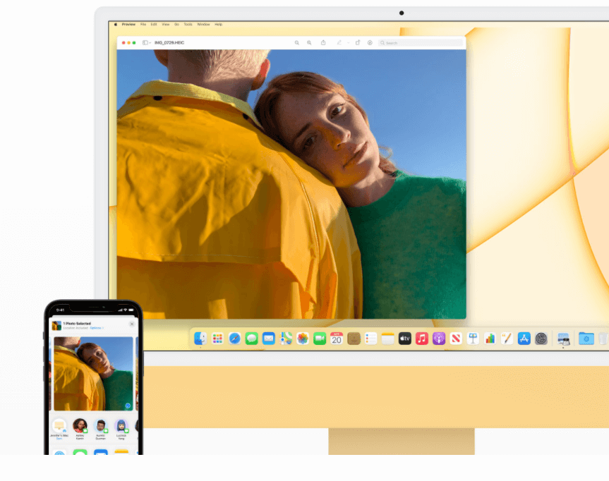 Apple iMac Retina 4.5K display air drop