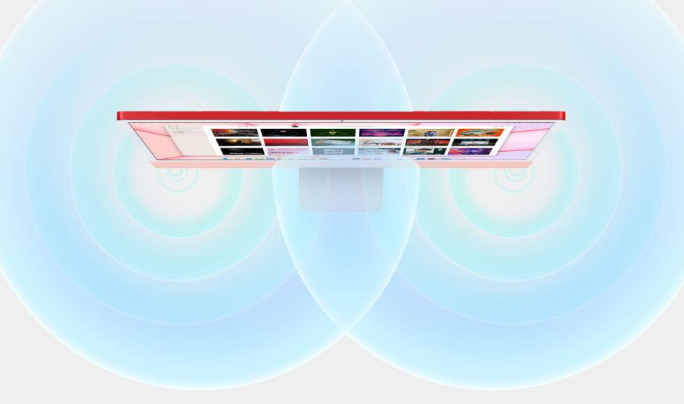 Apple iMac Retina 4.5K display speakers room