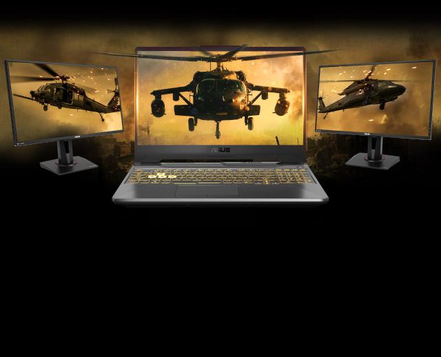 Asus tuf gaming laptop visuals