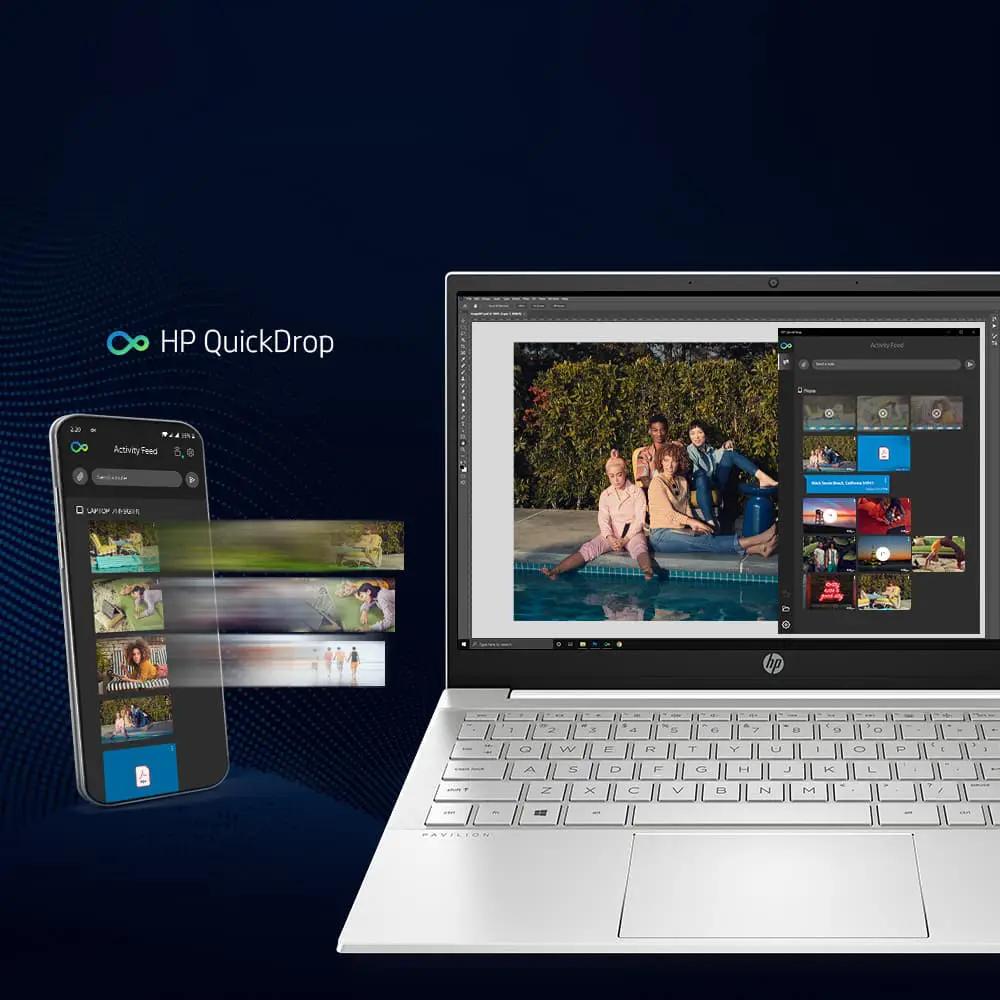 hp laptop intel core quickdrop