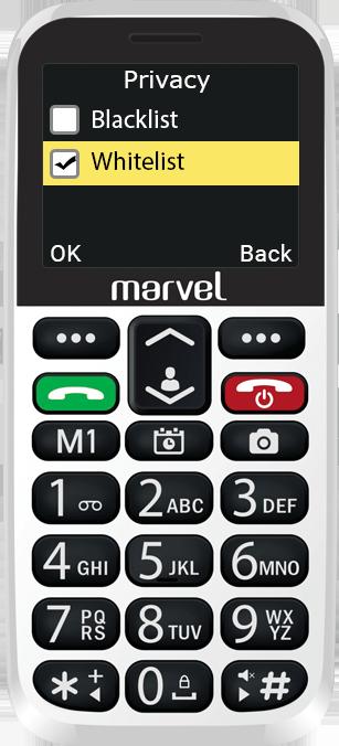 Easyfone Marvel Plus callers