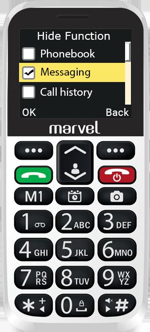 Easyfone Marvel Plus menu