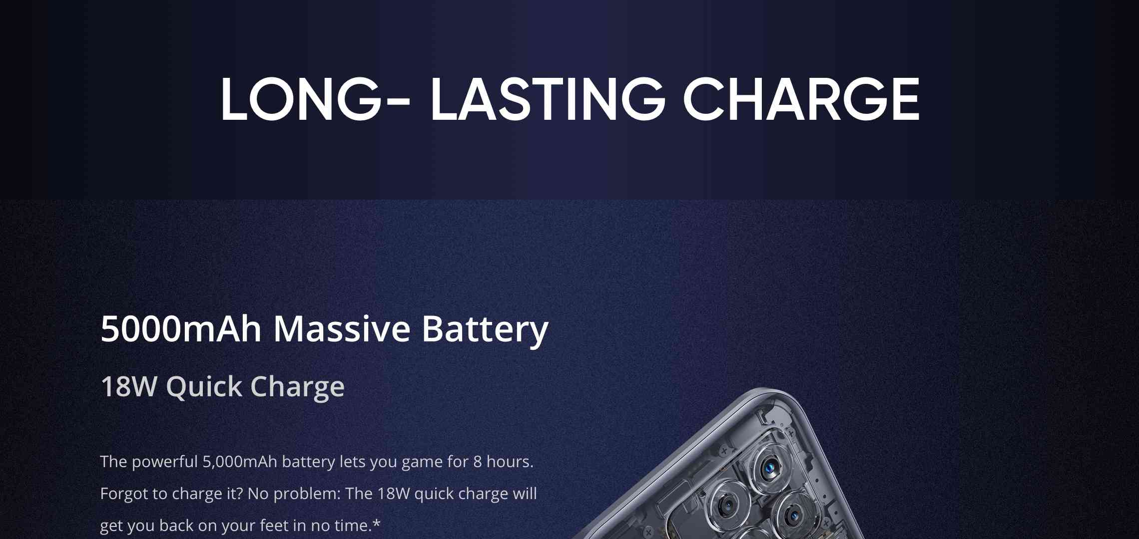 Realme long losting charge