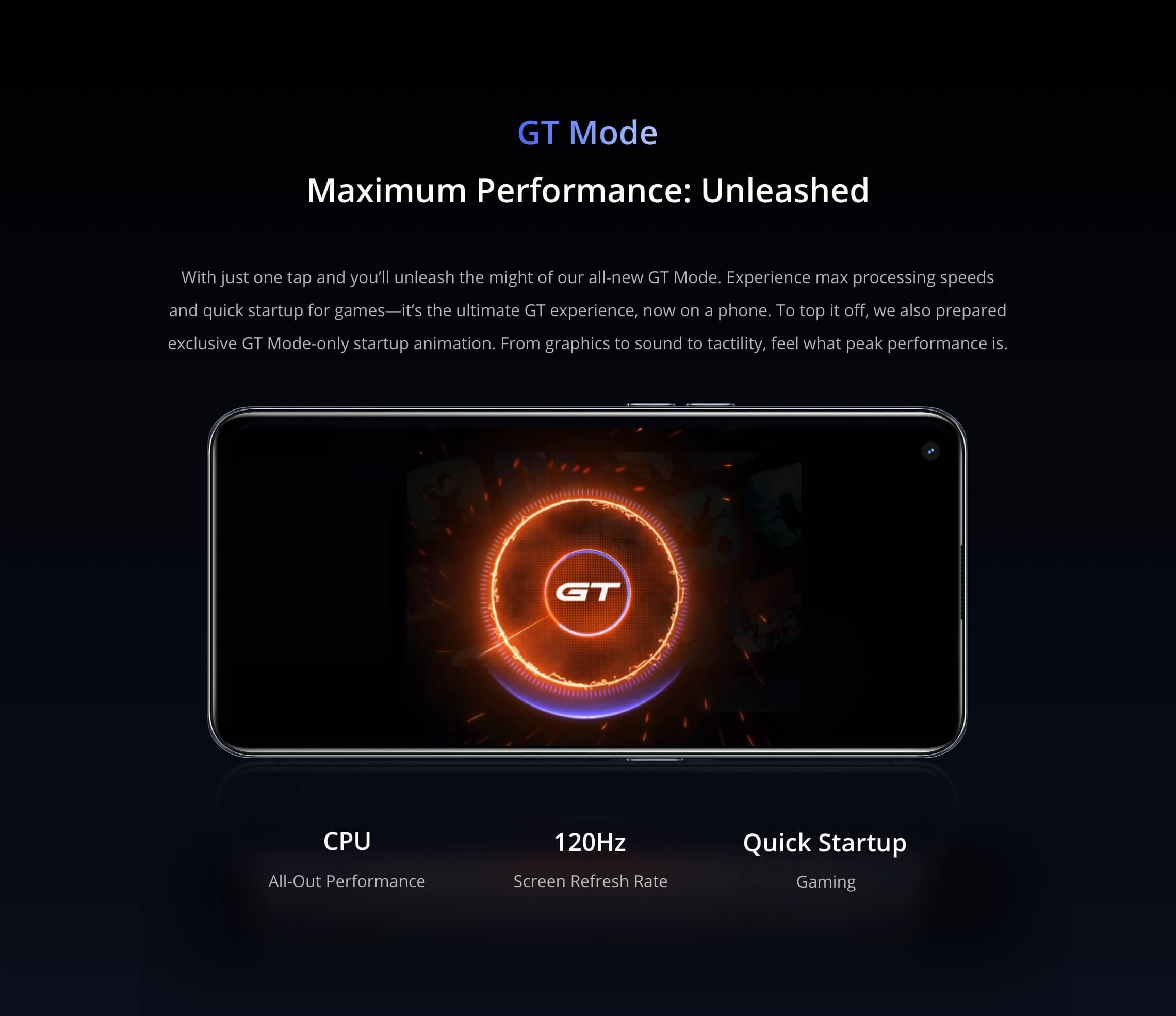 Realme GT 5G Gt mode