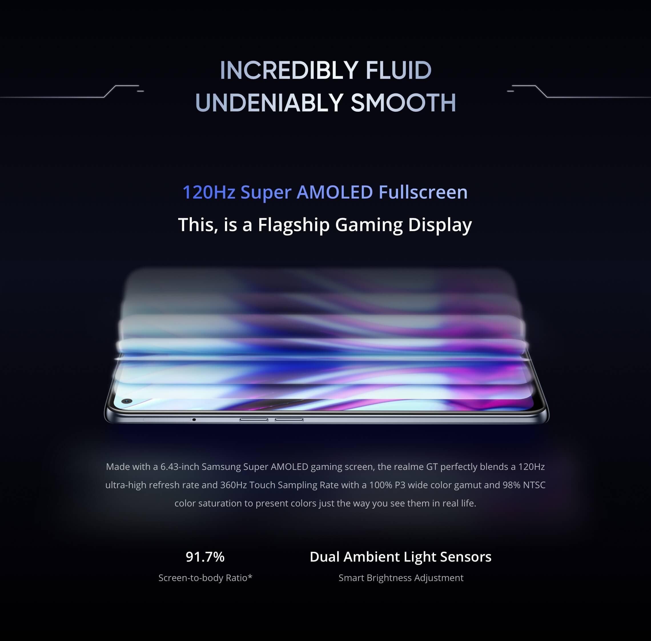 Realme GT 5G display