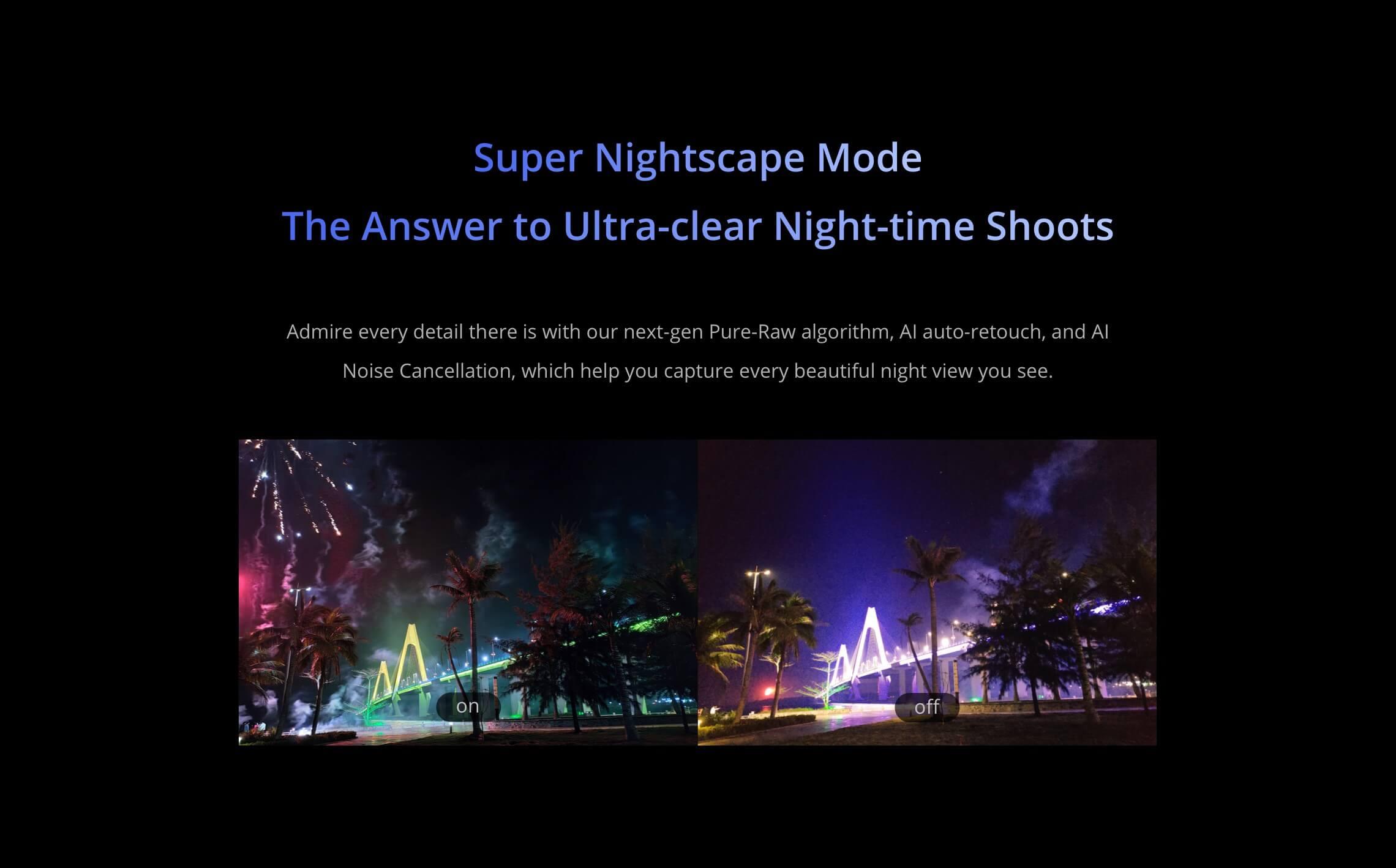Realme GT 5G night mode