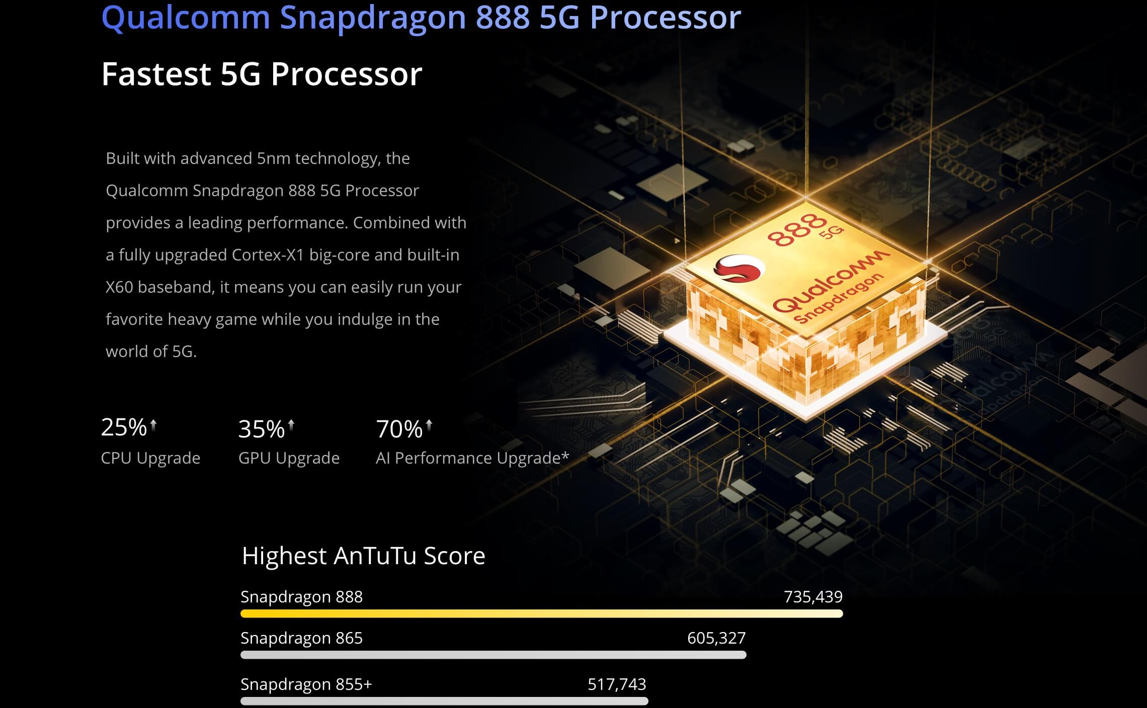 Realme GT 5G processor