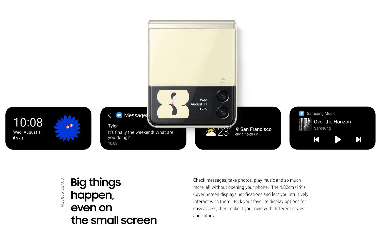 flip cover screen