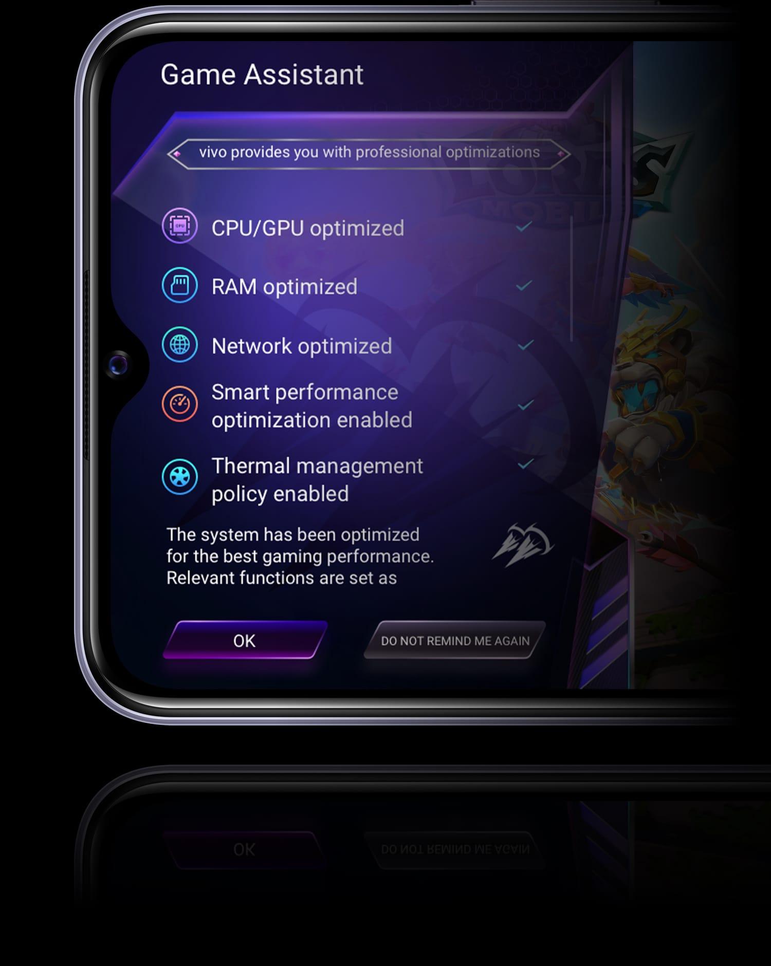 vivo y20 game mode