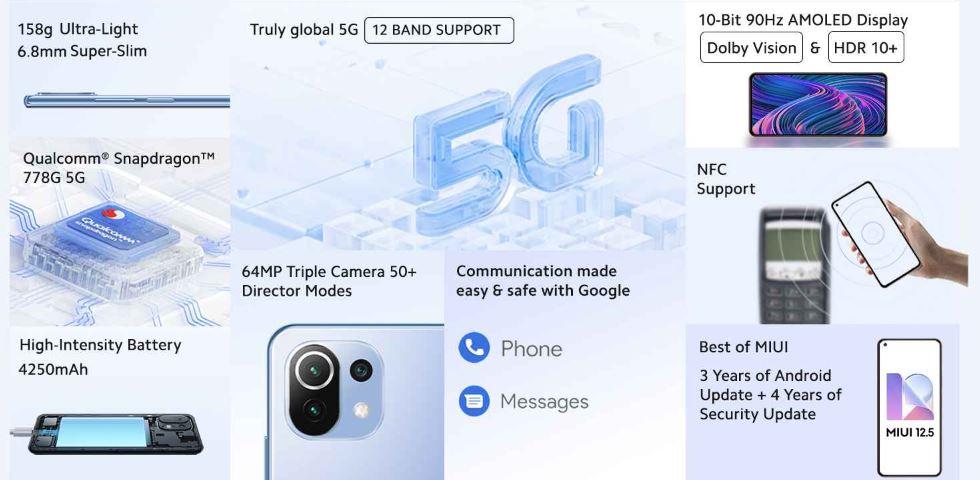 Xiaomi 11 lite features
