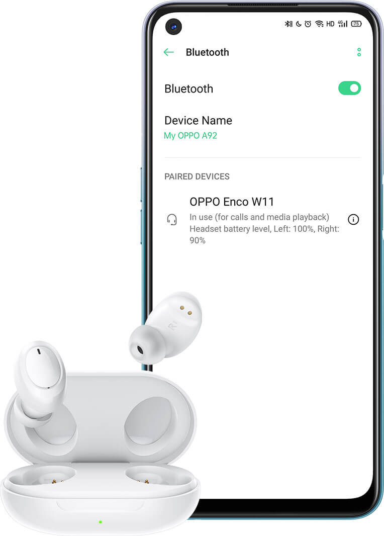 OPPO Enco W11 True Wireless Headphones color
