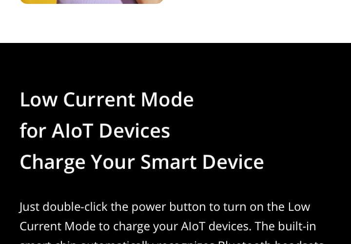 Realme 30w charge powerbank Modes
