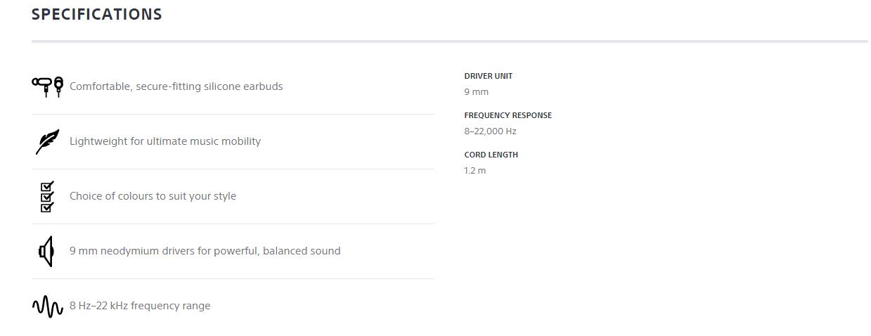 Sony MDREX15AP Earphone