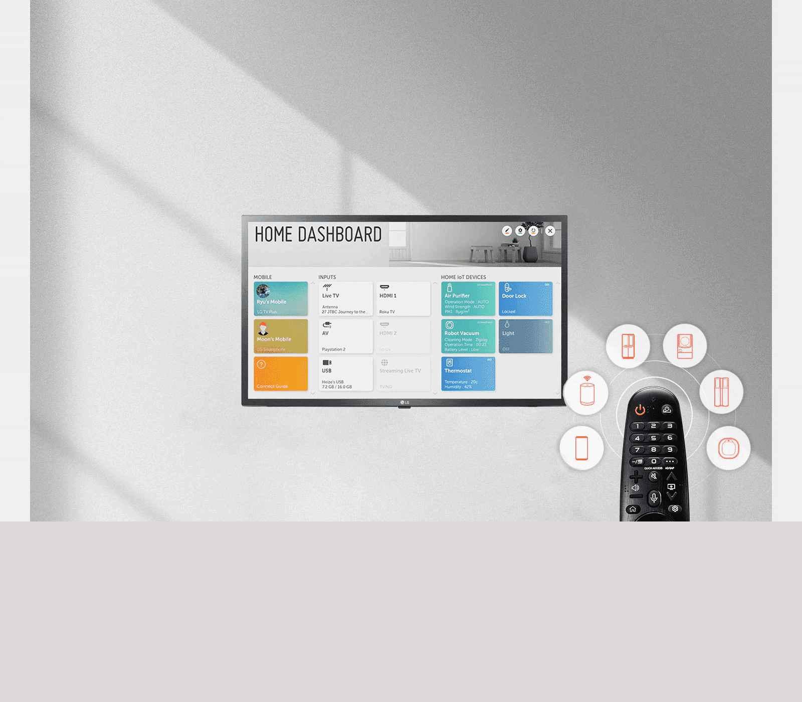 LG Smart LED TV Home Dashboard