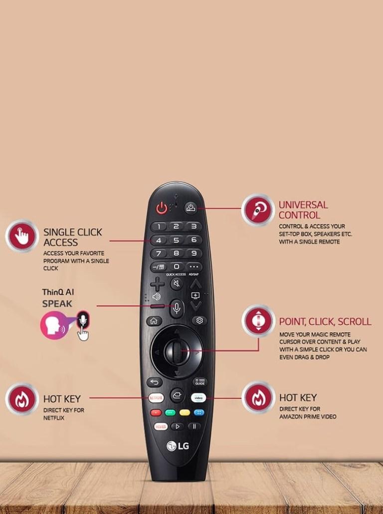 LG Smart LED TV LG Smart LED TV remote