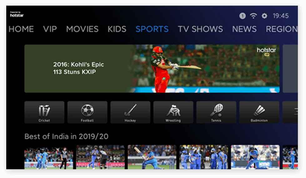 MI TV Sports