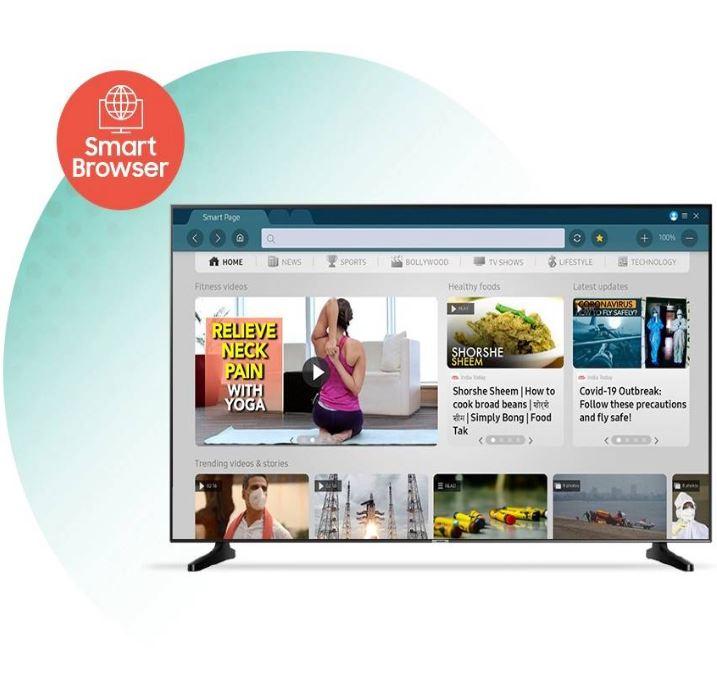 Samsung LED Smart tv World Wide Web