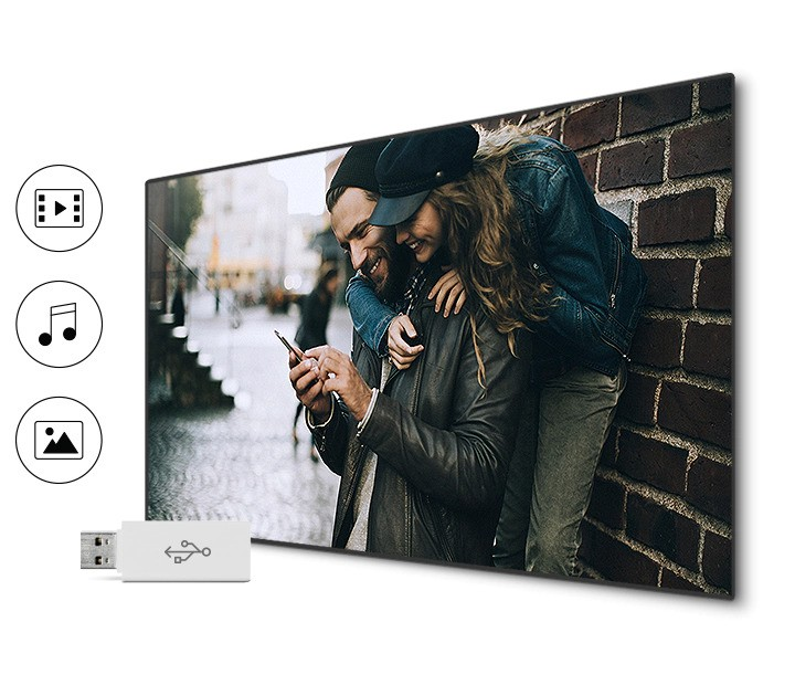 Samsung LED Smart tv share movie