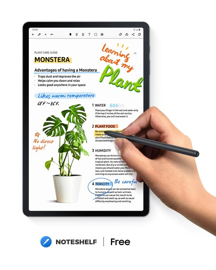 Galaxy Tab your thoughts flow with Noteshelf